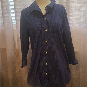 NWT blue and white old navy button down